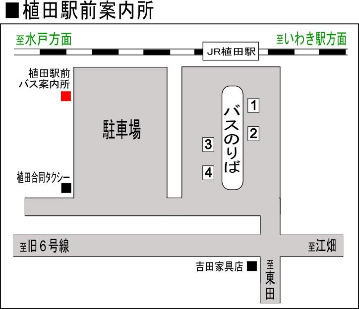 新常磐交通植田駅前